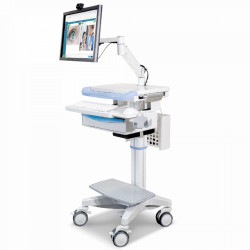 CHARIOT MEDICAL PANORAMIC HAUTEUR VARIABLE PIED