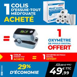 PACK 1 COLIS ESSUIE-TOUT MEDI'OUATE + 1 OXYMÈTRE DE POULS DIGITAL
