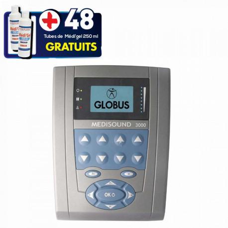 PACK APPAREIL ULTRASON MEDISOUND 1000 + 48 TUBES DE GEL + 2 COMPRESES GRATUITES