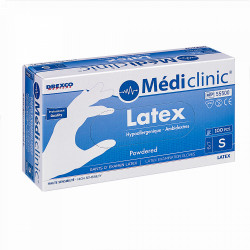 GANTS LATEX POUDRÉS MEDICLINIC