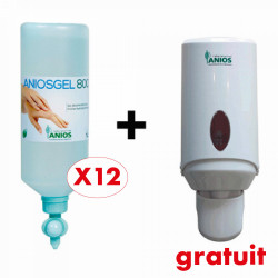 PACK 12 AIRLESS 1000 ML ANIOSGEL 800 + 1 DISTRIBUTEUR GRATUIT