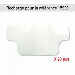 RECHARGE POUR VISIÈRE PLASTIQUE ANTI-PROJECTIONS - PAR 20