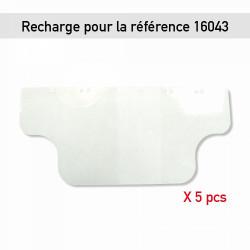 RECHARGE POUR VISIÈRE PLASTIQUE ROTATIVE