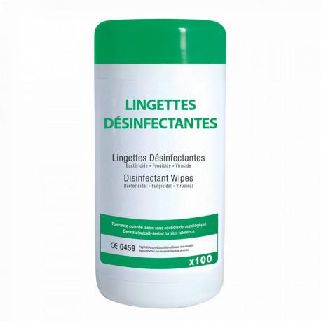 LINGETTES DÉSINFECTANTES BOITE DE 100