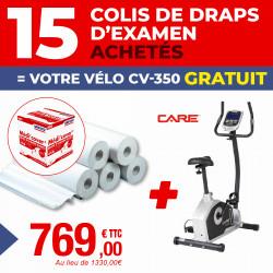 PACK 15 COLIS DE DRAPS D'EXAMEN MÉDI'COVER + 1 VÉLO GRATUIT