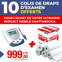 PACK ULTRASON INTELECT MOBILE CHATTANOOGA + 10 COLIS DE DRAPS D'EXAMEN OFFERTS