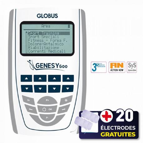 PACK ELECTROSTIMULATEUR GENESY 600 + 20 ÉLECTRODES OFFERTES