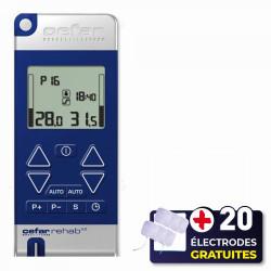 PACK ELECTROSTIMULATEUR REHAB X2 CEFAR COMPEX + 20 ÉLECTRODES OFFERTES