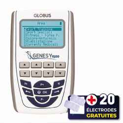 PACK ELECTROSTIMULATEUR GENESY 1500 PRO + 20 ÉLECTRODES OFFERTES