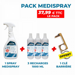 PACK SPRAY MEDISPRAY + 3 RECHARGES 1000 ML + CLE BARRIERE
