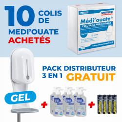 10 COLIS D'ESSUIE-TOUT + PACK DISTRIBUTEUR ELECTRONIQUE SANS CONTACT 3 EN 1