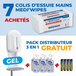 7 COLIS ESSUIE-MAINS + PACK DISTRIBUTEUR ELECTRONIQUE SANS CONTACT 3 EN 1