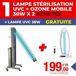 PACK LAMPE DE STÉRILISATION + LAMPE DE STERILISATION U.V.C + OZONE AVEC TELECOMMANDE