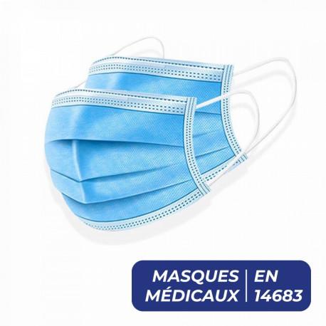 MASQUE DE CHIRURGIE ÉLASTIQUE - BOITE DE 50