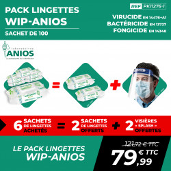 PACK LINGETTES DÉSINFECTANTES WIP'ANIOS EXCEL (100)
