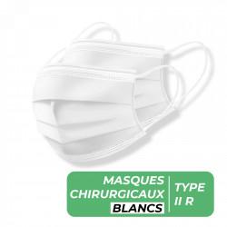 MASQUES CHIRURGICAUX TYPE II R BLANC