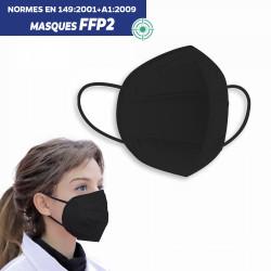 MASQUE DE PROTECTION RESPIRATOIRE FFP2 NOIR