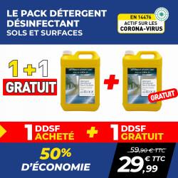 PACK (1 + 1 GRATUIT) DÉTERGENT DÉSINFECTANT SOLS ET SURFACES DD-SF