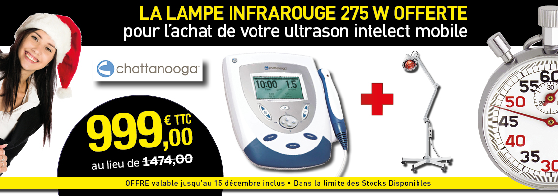 PACK ULTRASONS INTELECT MOBILE CHATTANOOGA + LAMPE INFRAROUGE 275W