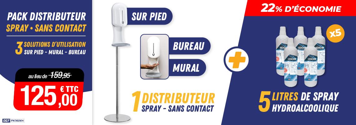 Distributeur 3 en 1 Spray hydroalcoolique