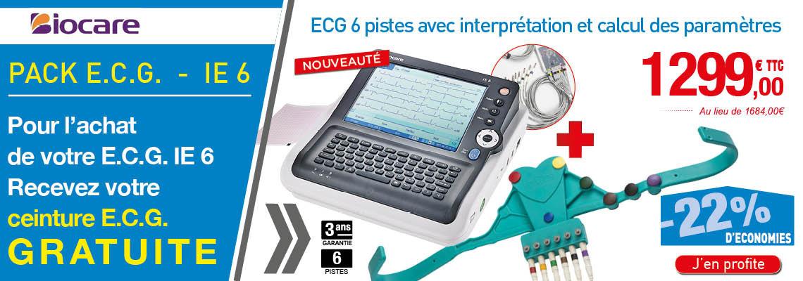 E.C.G 6 PISTES AVEC INTERPRÉTATION IE 6 - BIOCARE + CEINTURE GRATUITE