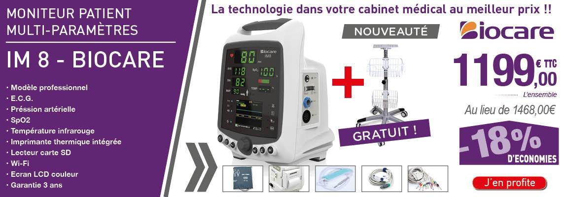 Moniteur patient multi-paramètres IM8 BIOCARE